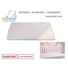 160x70x9cm Materac lateksowo-piankowy VITMAT Junior Fresh