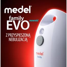 Inhalator pneumatyczno-tłokowy Medel FAMILY EVO z przyspieszoną nebulizacją - NOWOŚC!