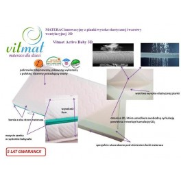 120x60x9cm Materac innowacyjny z pianki wysoko elastycznej i warstwy wentylacyjnej 3D
