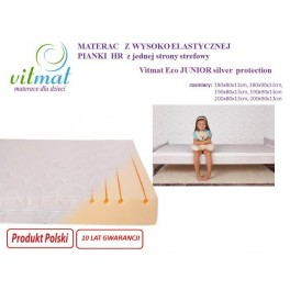 80x180x13cm Materac piankowy VITMAT ECO Junior silver protection