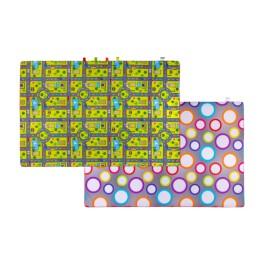 Materac dywan na podłogę dwustronny droga/kółka 150x150x2 cm