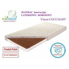 140x70x9cm Materac Lateksowo-kokosowy Vitmat Baby Antyalergic