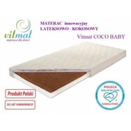 130x70x9cm Materac Lateksowo-kokosowy Vitmat Baby Antyalergic